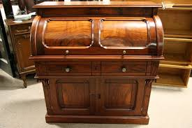 victorian cylinder desk walnut