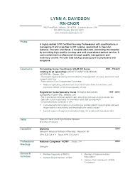 Nursing Professional Resume New Graduate Nurse Resume Nursing Resume ...