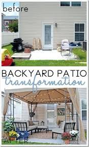 concrete slab patio makeover. Delighful Patio Slab Patio Makeover Pertaining To Concrete Backyard  To P
