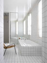 white square tile bathroom. Brilliant White A Little Too Much White But I Like The White Tile With Darker Grout  Know Itu0027s A Fashion Nono Itu0027ll Never Look Dirty Intended White Square Tile Bathroom Pinterest