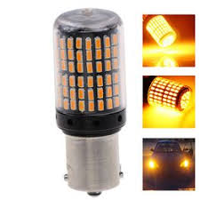 1x Yellow 1156 1095 1141 P21W BA15S 7506 LED 3014 ... - Vova