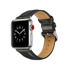 men s leather sports casual strap wristband watch band apple watch for 38mm 42mm