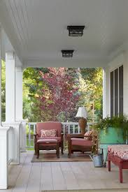 exterior porch ceiling lighting. beadboard cathedral ceiling porch victorian with red bench tongue and groove exterior lighting i