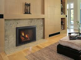 ... Inspiring Image Of Home Interior Decoration With Contemporary Insert Gas  Fireplace : Good Looking Living Room ...