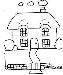 Coloriage Dessiner Maison Avec Jardin Imprimer