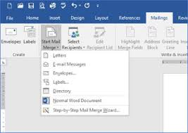 Word Mail Merge Mail Merge In Word 2016 Information Technology Services