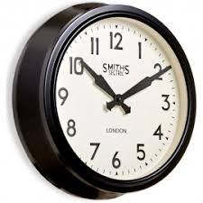vintage style clock. Contemporary Style Smiths Retro Arabic Wall Clock 38cm Throughout Vintage Style Y