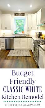 Budget For Kitchen Remodel Budget Friendly Classic White Kitchen Remodel All The