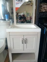 glacier bay vanities vanity combo with mirror canada