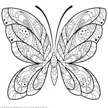 Butterfly Outline Coloring Page Butterfly Coloring Page Printable