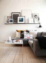 view in gallery living roon floating shelf