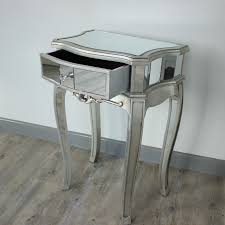 Mirrored bedside furniture Silver Tall Mirrored Bedside Tables Sweet Tater Festival Tall Mirrored Bedside Tables Home Design Ideas Few Original