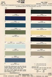 2012 Mustang Color Chart 1968 Mustang Paint Colors And Codes