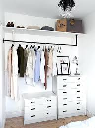 ideas to hang clothes without a closet small dresser hanging rod shelf ways to hang up