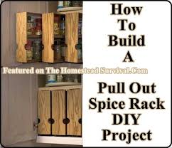 How To Build A Spice Rack Extraordinary Build Your Own Pull Out Spice Racks The Homestead Survival For