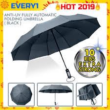Fully Automatic Umbrella Three Folding Clear Windproof