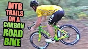 RIDING <b>MTB</b> TRAILS ON A CARBON <b>ROAD BIKE</b>! - YouTube