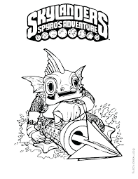 Trap Team Coloring Pages Skylanders Books Torch