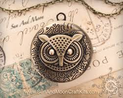 classic hipster owl pocket watch pendant necklace vintage bronze finish 024