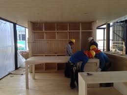 module furniture. Modular Prototype Home Built In Only 45 Days : Module House Chile Adding The Furniture