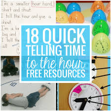 18 Quick Telling Time to the Hour Resources - Teach Junkie