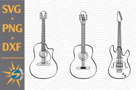 With these clip art resources, you can use for printing, web design, powerpoints, classrooms, craft projects and other graphic design purposes. Guitar Svg Png Dxf Digital Files Include 758079 Cut Files Design Bundles