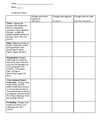 writing workshop essay corrections rubric by super sanok teaching  writing workshop essay corrections rubric