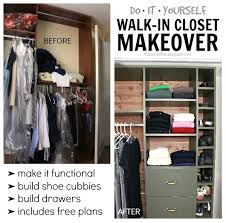 walk in closet makeover built ins