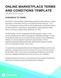 Printable Contract Template Terms And Agreements Website Of Service ...