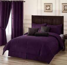 image of dark purple bed sheets queen