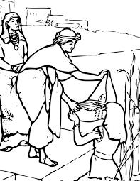 Kleurennu Mozes In Het Rieten Mandje Kleurplaten