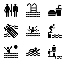 swimming pool vector. Swimming Pool Icon Collection Vector L