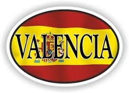 The name valencia is of latin origin, and is used mostly in english speaking countries but also in a the meaning of valencia is bravery. Valencia Spain Oval Spanish Flag And City Name Ciudad Espanola Sticker Ebay