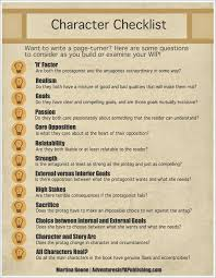 best character development writing ideas  character checklist infographic