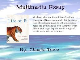 eng ue multimedia essay life of pi