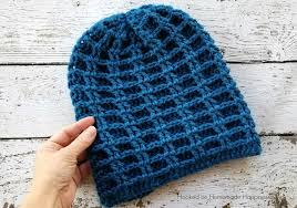 Hipster Beanie Crochet Pattern Extraordinary Double Waffle Slouchy Beanie Crochet Pattern Hooked On Homemade