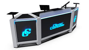 custom dj booths portable and modular tables stands and dj facades