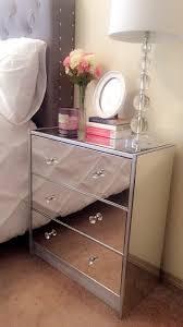mirror nightstand. diy mirror nightstand i made :)