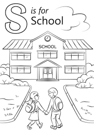 Small Picture Letter S is for School coloring page Free Printable Coloring Pages