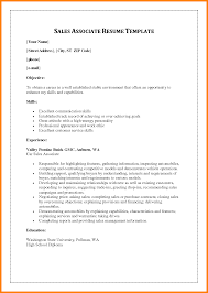 Best Ideas Of Sample Resume Of Sales Associate With Additional