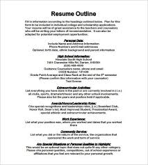 Join millions of others & build your free resume & land your dream job! 12 Resume Outline Templates Samples Doc Pdf Free Premium Templates