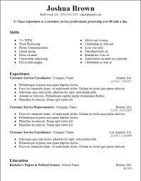 Skills Based Resume Example