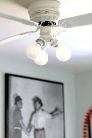 ceiling fan light globe removal vine painted white