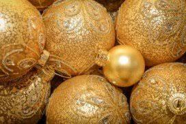Goldene Weihnachtskugeln 10 Cm Christbaumschmuck