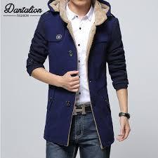 mens autumn and winter long trench coat mens korean self cultivation woolen coat coat british hooded