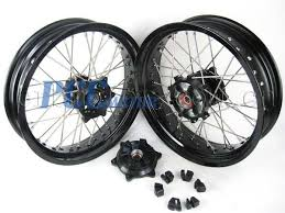 suzuki dr650 dr 650 front rear 17 17 supermoto wheels set 1998
