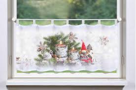 Gardinen Welt Online Shop Weihnachtsgardine Wichtel