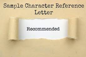 Letters Of Character Reference Samples Sample Character Reference Letter