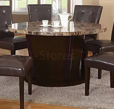 marble top round dining table iron wood