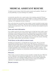 Medical Assistant Resume Objective Examples To Luxury Entry Level